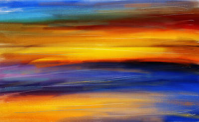 Sunset Of Light Print by Lourry Legarde