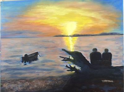 Sunset On Birch Bay Print by Liz  Ekstrom