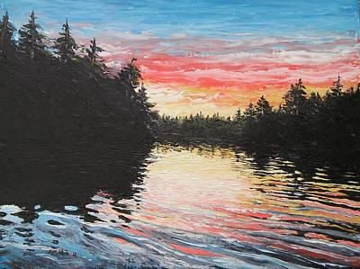 Sunset On Buckhorn Lake Print by Scott White