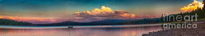 Sunset On Howard Prairie Lake Print by Omaste Witkowski