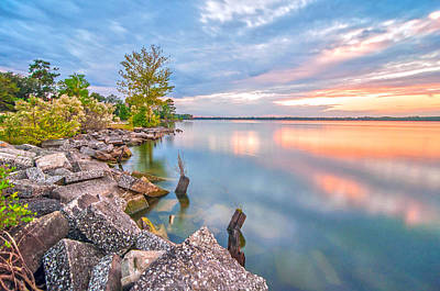 Sunset On Lake Moultrie Print by Donnie Smith