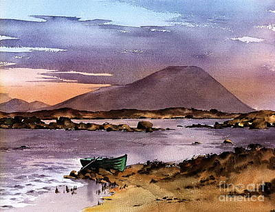 Sunset On Lough Cullin   Mayo Print by Val Byrne