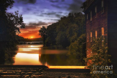 Sunset On The Dam Print by Tom York Images