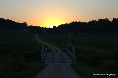 Photograph - Sunset On The Farm by Dan  Dickerson