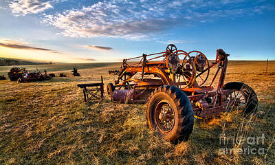 Sunset On The Farm In North Carolina I Print by Dan Carmichael