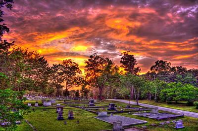 Greensboro Photograph - Sunset On The Greensboro Cemetery by Reid Callaway