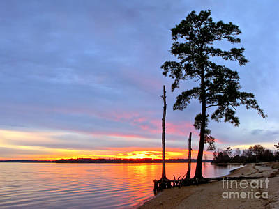 Sunset On The James River Print by Olivier Le Queinec