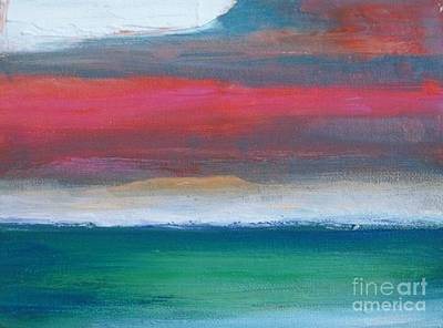 Abstract Seascape Painting - Divine Sky by Vesna Antic