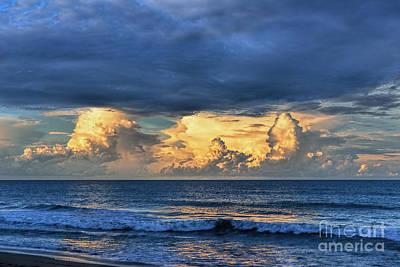 Sunset Photograph - Sunset On The Ocean by Olga Hamilton