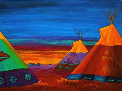Sunset On The Prairie Original by Nancy Jolley