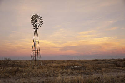 Windmill Photograph - Sunset On The Texas Plains by Melany Sarafis