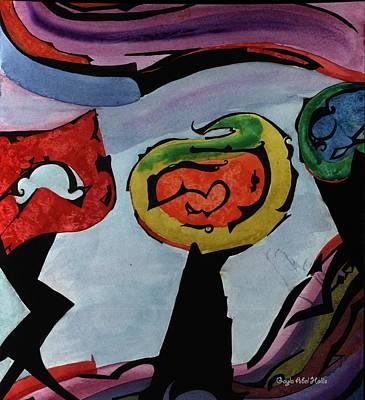 Painting - Sunset On Venus by Gayla Abel Hollis