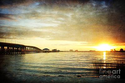 Sunset Over Biloxi Bay Print by Joan McCool