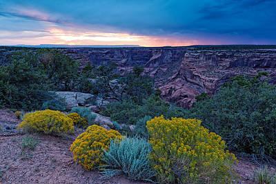 Kokopelli Photograph - Sunset Over Black Mesa At Canyon De Chelly by Silvio Ligutti