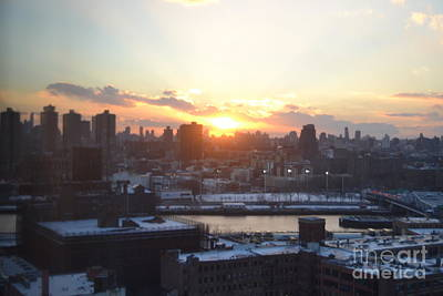 Sunset Over Harlem Print by Robert Daniels