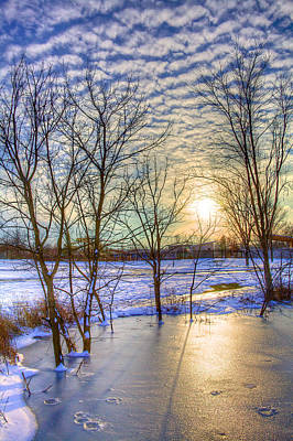 Buttermilk Photograph - Sunset Over Ice by William Wetmore