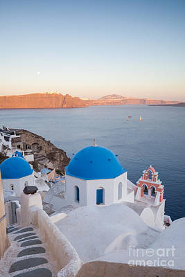 Greek Icon Photograph - Sunset Over Santorini - Greece by Matteo Colombo