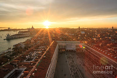 Citylife Photograph - Sunset Over St Mark's Square Venice Italy by Matteo Colombo