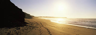 Sunset Over The Beach, Lagos, Faro Print by Panoramic Images