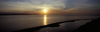 Sunset Over The Sea, Ebeys Landing Print by Panoramic Images