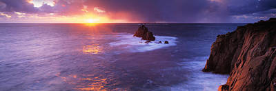 Lands End Photograph - Sunset Over The Sea, Lands End by Panoramic Images