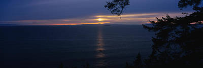 Sunset Over The Sea, Strait Of Juan De Print by Panoramic Images