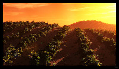 Sunset Over The Valley Print by Tim Fillingim