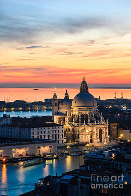 Scenic Photograph - Sunset Over Venice - Italy by Matteo Colombo