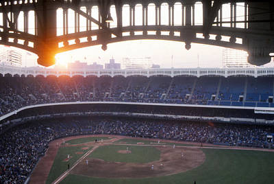 Old Yankee Photograph - Sunset Over Yankee Stadium by Retro Images Archive