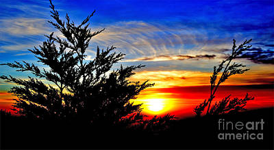 Sunset Overlooking Pacifica Ca Vi Print by Jim Fitzpatrick
