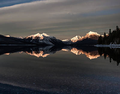 Montana Photograph - Sunset Peaks by Aaron Aldrich