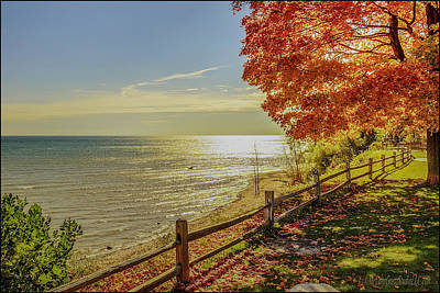Pathways Photograph - Sunset Port Sanilac Scenic Turnout by LeeAnn McLaneGoetz McLaneGoetzStudioLLCcom
