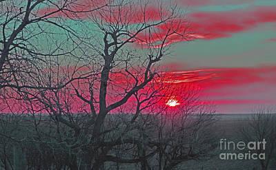 Sunset Red Print by Renie Rutten