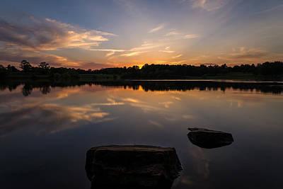 Bucks County Photograph - Sunset Reflecting by Kristopher Schoenleber