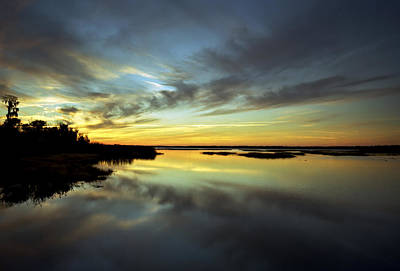 Sunset Reflections. Lake Gentry. Print by Chris  Kusik