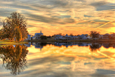 Sunset Reflections Print by Leslie Kirk