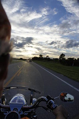 Sunset Ride Print by Laurie Perry