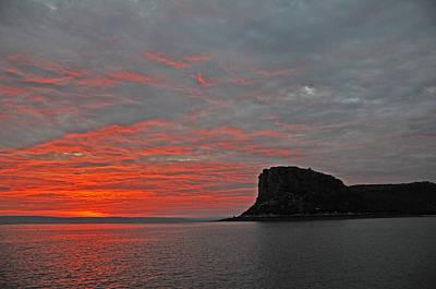 Sunset Rock Print by Casey Herbert