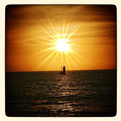 Sun Rays Digital Art - Sunset Sail by Natasha Marco