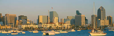 Sunset, San Diego Harbor, California Print by Panoramic Images