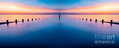 North Wales Digital Art - Sunset Seascape IIi by Adrian Evans