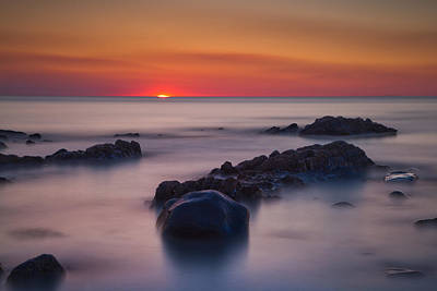 Izzy Photograph - Sunset Seascape Long Exposure by Izzy Standbridge