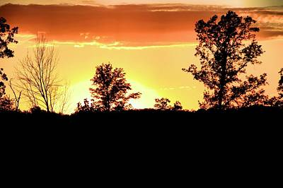 Sunset Silhouette Print by Dan Sproul