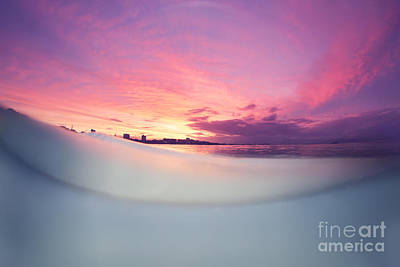Wave Photograph - Sunset Skies by Love and Water Photography