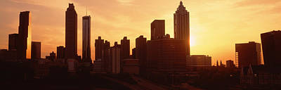 Sunset Skyline, Atlanta, Georgia, Usa Print by Panoramic Images