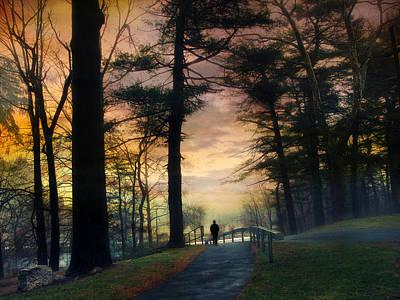 Alone Digital Art - Sunset Solitude by Jessica Jenney