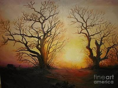 Sunset Print by Sorin Apostolescu