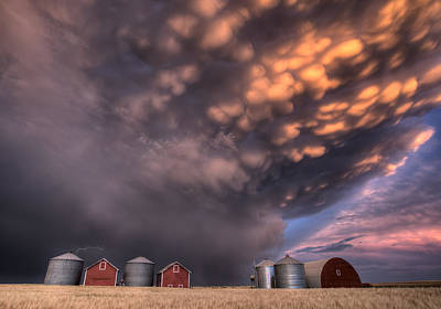 Sunset Storm Clouds Canada Print by Mark Duffy