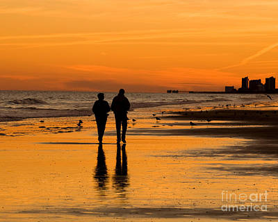 Sunset Stroll Print by Al Powell Photography USA