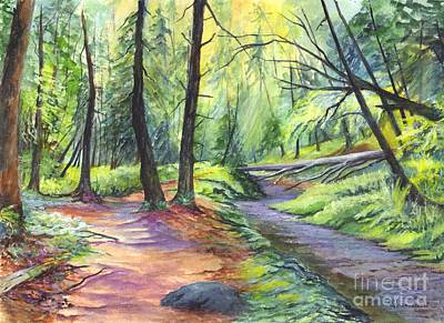 Walkway Drawing - Sunset Stroll  by Carol Wisniewski